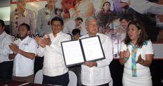 📷 Maestros de Oaxaca llaman a votar por Morena...