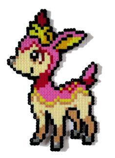 Deerling Pokemon perler bead sprite by AenysBeadArt on Etsy