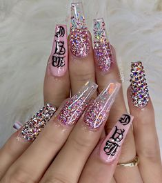 145 Beautiful Marble Nails to Copy Right Now Aycrlic Nails, Bling Nails, Weed Nails, Best Acrylic Nails, Acrylic Nail Designs, Exotic Nails, Fire Nails, Coffin Nails Long, Luxury Nails