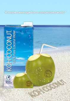 Best ever. Hits the spot! Coconut Water, E Design, Brewing, Beverages, Health Fitness, Passion, Treats, Pure Products, Simple