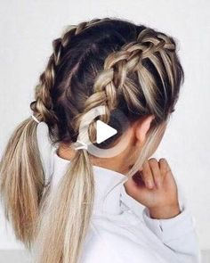 French Braid Hairstyles, Box Braids Hairstyles, Cute Hairstyles, Hairstyle Ideas, Hair Updo, Hairdos, Vintage Hairstyles, Bangs Hairstyle, Teenage Hairstyles