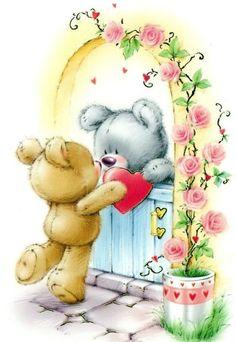 Florynda del Sol ღ☀¨✿ ¸.ღ ♥Marina Fedotova♥ Anche gli Orsetti hanno un'anima…♥ Teddy Bear Quotes, Teddy Bear Images, Teddy Bear Cartoon, Teddy Bear Pictures, Cute Teddy Bears, Valentines Day Bears, Valentines Day Drawing, Tatty Teddy, Art D'ours