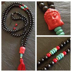 Buddha Mala Necklace by TheArtsyNomad on Etsy, $55.00