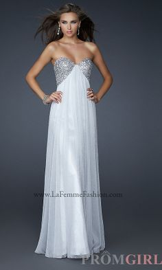 Open Back Strapless Gown, La Femme Backless Prom Dress- #prom #dresses #gowns