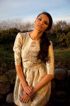 Rococo Brocade Dress. $240.00, via Etsy.