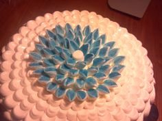 Blue flower to top it (made with marshmallows).