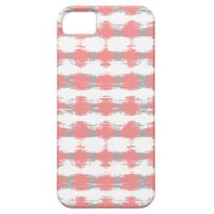 Coral and Gray Ikat Stripes iPhone 5/5S Covers #ikat #coral #gray #stripes #pattern #iphonecase #iphonecover #iphone5