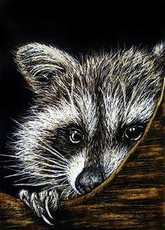 "Daily Paintworks - ""Bashful"" - Original Fine Art for Sale - © Monique Morin Matson"