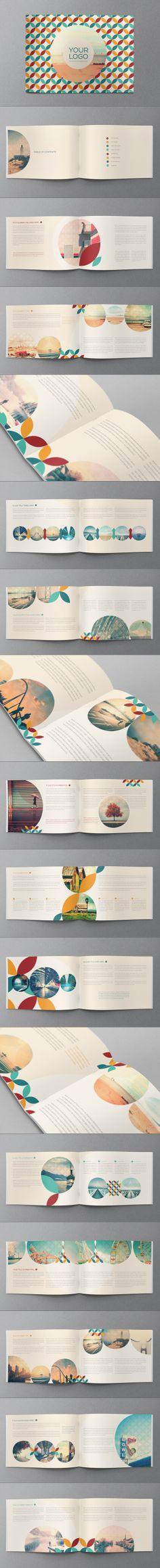 Retro Vintage Brochure on Behance Print \ layout Pinterest - retro brochure template