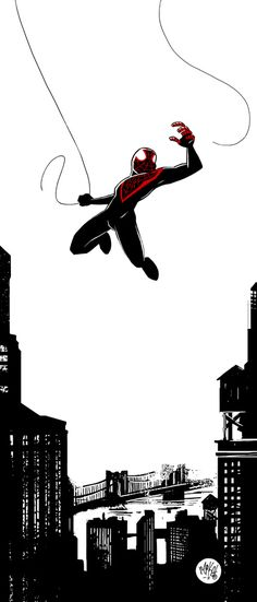 Really cool drawing of Spider-Man. I like the clean lines.