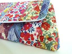 Liberty of London Patchwork Tana Lawn Clutch Bag via Etsy