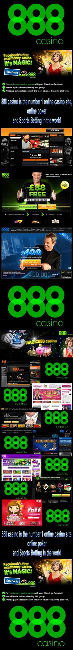 888 casino is the number 1 online casino site and online poker in the world. Many games, and many promotions and offers for you every day! Visit! And play now! >> http://8882.p.ht/