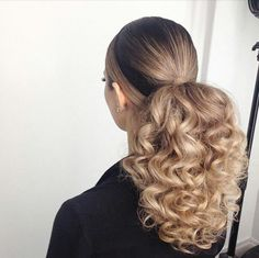 Low Curly Ponytail