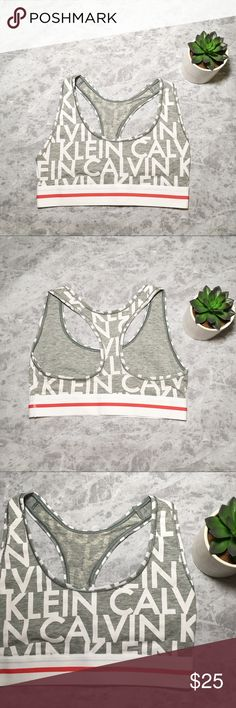 NWOT Calvin Klein Modern Cotton Bralette * Brand new without tags * Comfy, breathable material  * White with red stripe garter trim * Racerback * Heather gray with Calvin Klein print all around bralette Calvin Klein Intimates & Sleepwear Bras