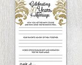 Printable anniversary party sheets - Damask - 50th anniversary - Golden anniversary - Customizable