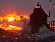 Splash at Sunset by Mi Bob