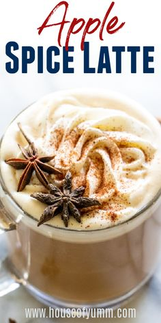 Apple Spice Latte. This creamy, slightly spicy apple spice latte is the perfect comforting drink to sip on. Easy enough to make for your morning coffee OR an afternoon pick me up! Drink Recipes Nonalcoholic, Drinks Alcohol Recipes, Yummy Drinks, Cocktail Recipes, Dinner Recipes, Cocktails, Fall Recipes, Holiday Recipes, Real Food Recipes