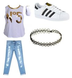 """Untitled #409"" by jamiesowers14 on Polyvore featuring Bebe and adidas"