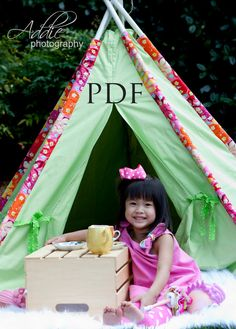 Tee Pee  Tent Sewing Tutorial PDF Fort by littlelizardking on Etsy, $10.00