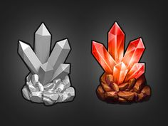 Dribbble - Red Crystal by Victor Soto