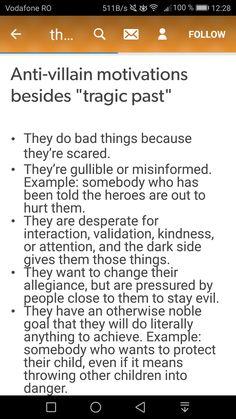 Anti villain writing