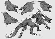 Towards the end of 2017 I was approached to do some creature design for an animation to be directed by Leif Jeffers. A fantastic project to have been a part of with an incredibly talented team. Monster Concept Art, Alien Concept Art, Creature Concept Art, Fantasy Monster, Monster Art, Creature Feature, Creature Design, Creature Drawings, Animal Drawings