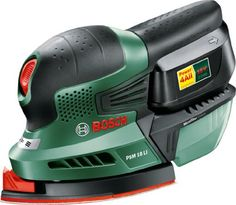 Powerful, compact and multi-talented sander featuring syneon chip  Suitable for sanding wooden furniture, doors, corners or edges  Lithium-Ion technology - no memory effect, no self-discharge - always ready to use  Bosch microfilter system - built-in dust extraction element sucks the dust directly in the microfilter box  Bosch SDS for using various attachments, Example: Sanding finger attachment