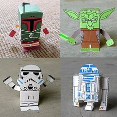 Printable fold-able starwars toys!