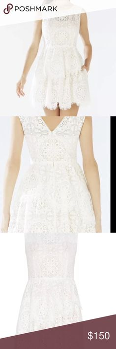 BCBG Charlee Asymmetrical Tiered Lace Dress BCBG MAXAZRIA Charlee Asymmetrical Tiered Lace BCBGMaxAzria Dresses Asymmetrical