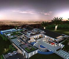 Mega Mansions, Mansions Homes, Modern Villa Design, Dream Mansion, Modern Mansion, Luxury Homes Dream Houses, Dream House Exterior, Dream Home Design, House Styles