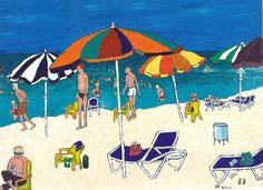 """Tel Aviv Seashore"" Nava Guterman 2007, Acrylic on Canvas 60x80 cm."