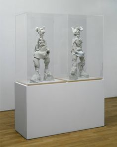 "Rebecca Warren ""Come, Helga"" 2006 Clay, wood, steel and Perspex 2155 x 645 x 1580 mm"