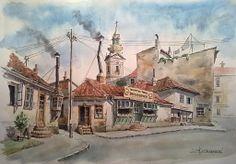 Varos Kapija - Old Belgrade, circa 1928 by Kiza-Arh