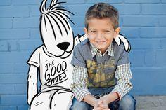 Boys gingham dress shirt at thegoodones.com.