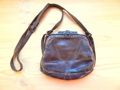 Vintage 1930s Train Conductor Leather Bag European