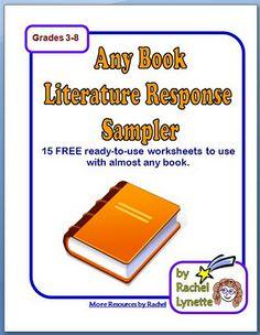 15 Reading Response Printables! as seen on Middle School Maestros  www.middleschoolmaestros.com