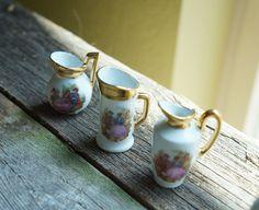 Set of 3 Vintage Limoges Mini Vases  Made in France  Limoge Porcelain Vase Mini…