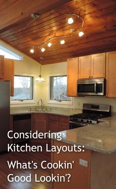 Kitchen Layouts, Kitchens, Kitchen Cabinets, Real Estate, Ceiling Lights, Design, Home Decor, Kitchen Designs, Decoration Home