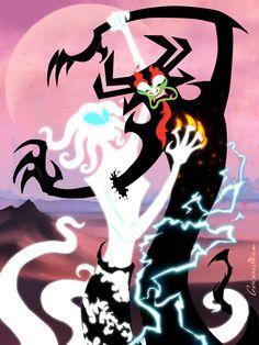 "grievousalien: "" Happy Valentine's Day! Aku vs an ancient spirit (appears in ep XII) "" Samurai Jack Aku, Samurai Warrior, Ashi Samurai Jack, Character Art, Character Design, Cartoon Crossovers, Animation, Old Cartoons, Art Challenge"