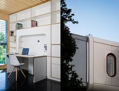 Spaceship House is a sustainable prefab home controllable by smartphone