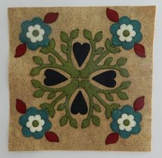 Outside Baltimore Wool Applique Pattern #3