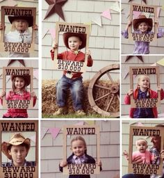 Cute western party prop - make a wanted poster from a cardboard box for pics! From Mommy Made on FB