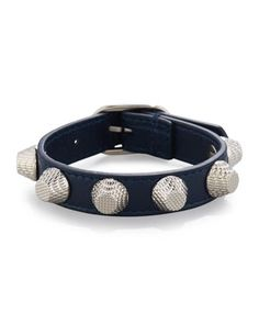 Giant 12 Leather Bracelet with Studs by Balenciaga at Bergdorf Goodman.