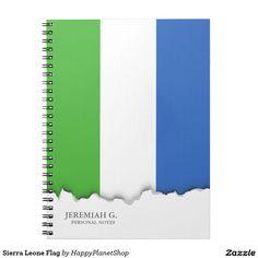 Sierra Leone Flag Notebook