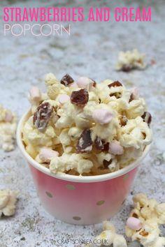 Strawberries And Cream Popcorn Easy Snacks For KidsSnacks
