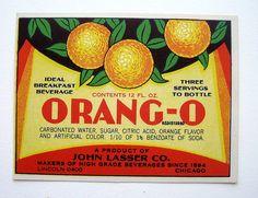 Orang-o - vintage soda label