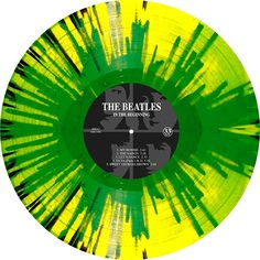 In The Beginning, Album by The Beatles. Limited edition of 1000 multicolor, green and black on yellow splattered vinyl. Collection of unusual, rare vinyl and unique colored collectible records.