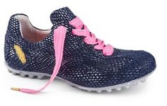 Brilliante Navy Henry & Magda Ladies Italian Hand Crafted Golf and Street Shoes available at @lorisgolfshoppe