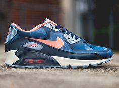 Nike Air Max 90 PREM Tape Camo Pack Petra Brown Atomic Red