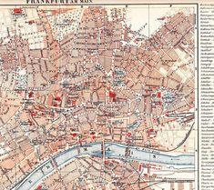 1894 City Map of Frankfurt am Main Hessen Germany by Maptimistic